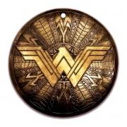 Descanso de Panela Mulher Maravilha Logo Dourado