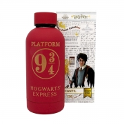 Garrafa Cantil Térmica Emborrachado Harry Potter Estação Plataforma 9 3/4 Hogwarts