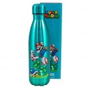 Garrafa Cantil Térmico Metálico Super Mario Bros
