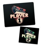 Kit 2 Mousepad Gamer Player 1 e Mousepad Player 2