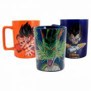 Kit 3 Canecas Dragon Ball Z Goku Vegeta e Shenlong