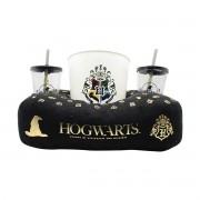 Kit Almofada Porta Pipoca Harry Potter Hogwarts FBA