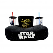 Kit Almofada Porta Pipoca Star Wars Galáxia