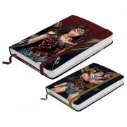 Kit Cadernetas de Anotações A5 e A6 Mulher Maravilha