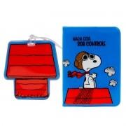 Kit Viagem Porta Passaporte e Tag de Mala Snoopy