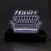 Luminária em Acrílico Sofá Friends