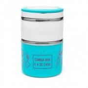 Marmita Térmica Inox Dupla - Comida Boa