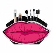 Organizador Porta Maquiagem Display Boca Rosa
