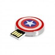 Pen Drive 8gb Escudo Capitão América Marvel 2