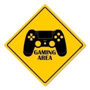 Placa Decorativa 30x30 Gaming Area Ps4 Dualshock