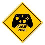 Placa Decorativa 30x30 Gaming Zone X Xbox One Controle