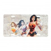 Placa Decorativa de Alumínio Mulher Maravilha Fases DC Comics