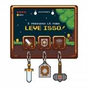 Porta Chaves Game Retrô 8 Bits RPG