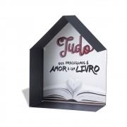 Porta Livros Amor e Um Livro