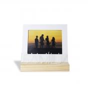 Porta Retrato Madeira Letreiro Família