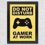 Poster com Moldura Gamer at Work