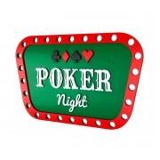 Quadro 3D Decorativo MDF Poker Night