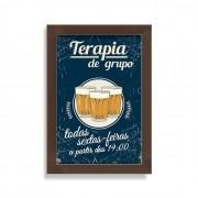 Quadro com Moldura Terapia de Grupo Chopp e Cerveja
