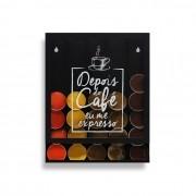 Quadro Porta Cápsulas Dolce Gusto Nespresso - Eu me Expresso