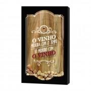 Quadro Porta Rolhas O Vinho