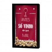 Quadro Porta Rolhas Só Vinho