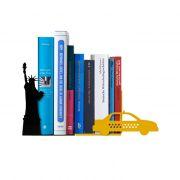 Suporte Aparador De Livros Dvd Cd Ícones NY - Nova York