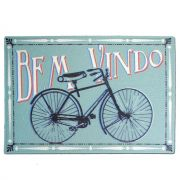 Tapete Capacho Bem Vindo Bicicleta Vintage