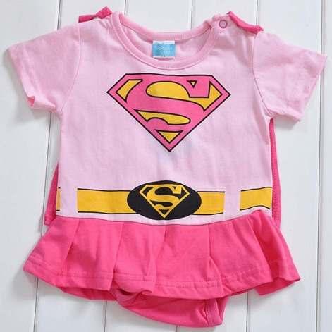 Macacão Fantasia Supergirl Bebê