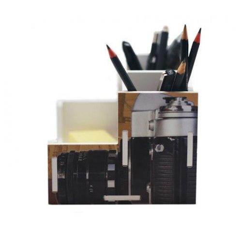 Organizador De Mesa Escritório Camera Fotográfica