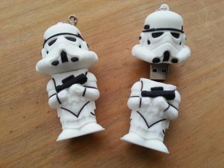 Pen Drive 8gb Star Wars Stormtrooper - Guerra Nas Estrelas