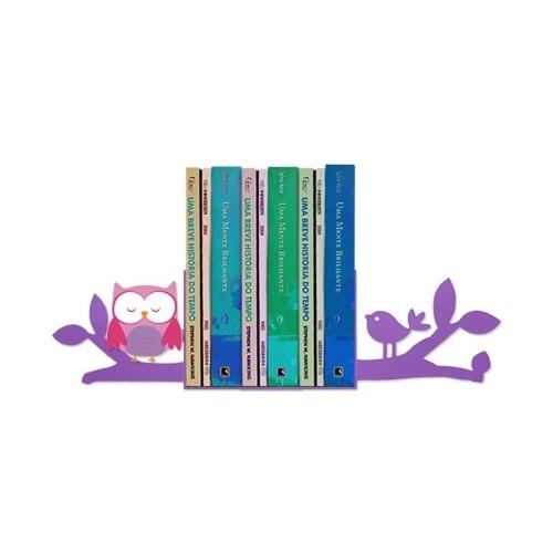 Suporte Aparador De Livro E Dvd Temático - Coruja / Galho