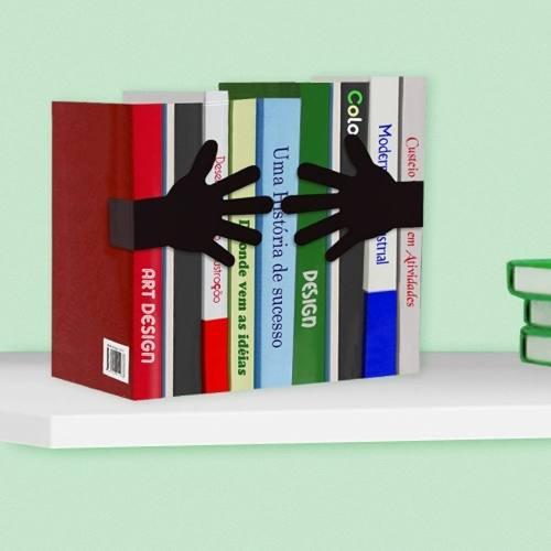 Suporte Aparador De Livros Dvd Cd Decorativo Abraço