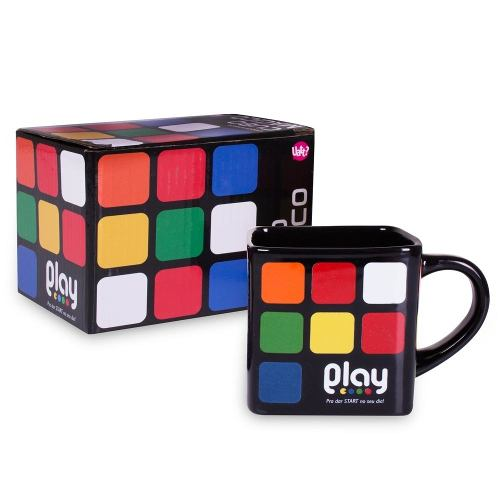 Caneca Quadrada Play Cubo Magico