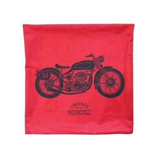 Capa De Almofada Vintage Motocycle Zíper Invisível 45x45cm