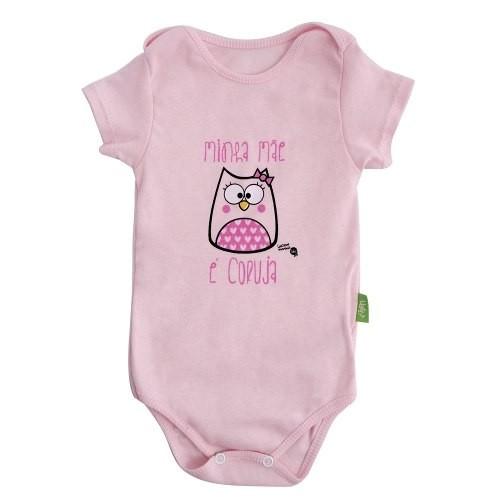 Body Bebê Infantil Mãe Coruja