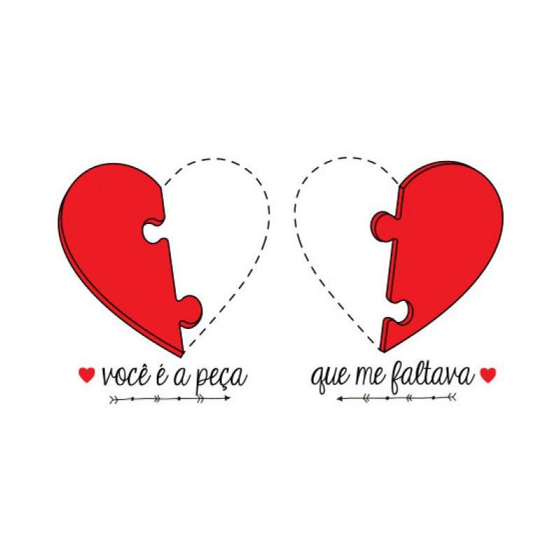 Conjunto Caneca Amor - Você é a Peça que Faltava