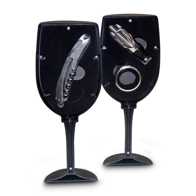 Combo Vinho Cottage 3 Pçs - 1 Prato 1 Kit Vinho 1 Porta Vinho