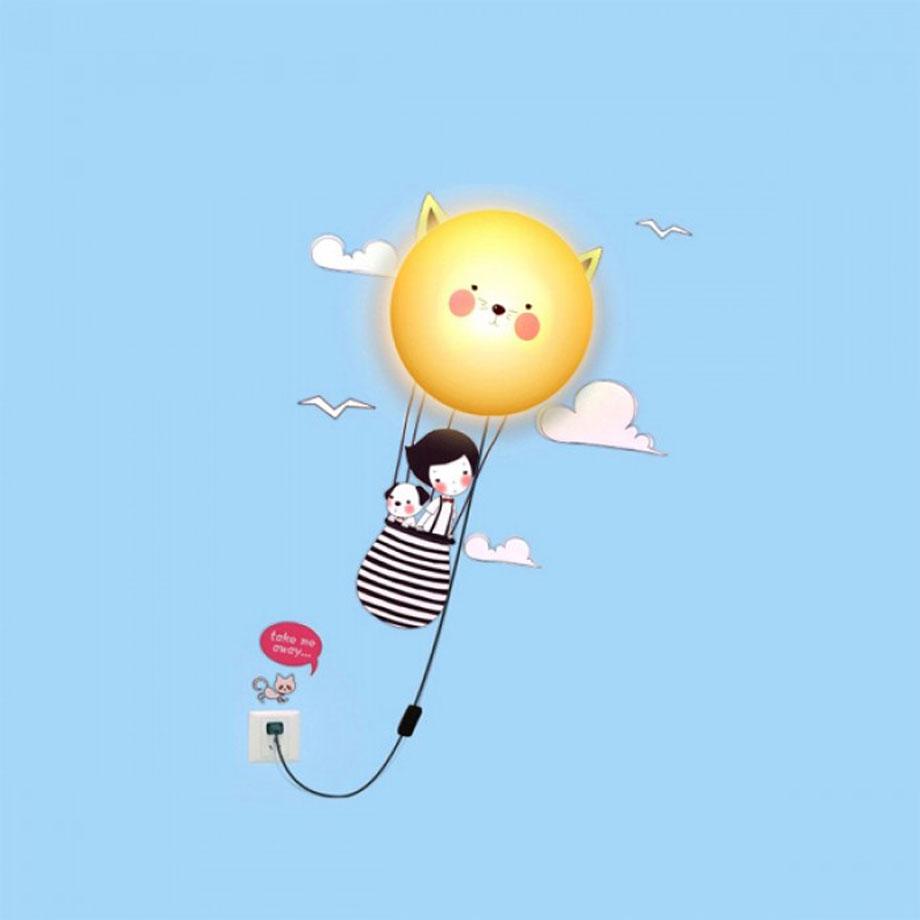 Luminária Abajur Infantil 3D Encanto Balão
