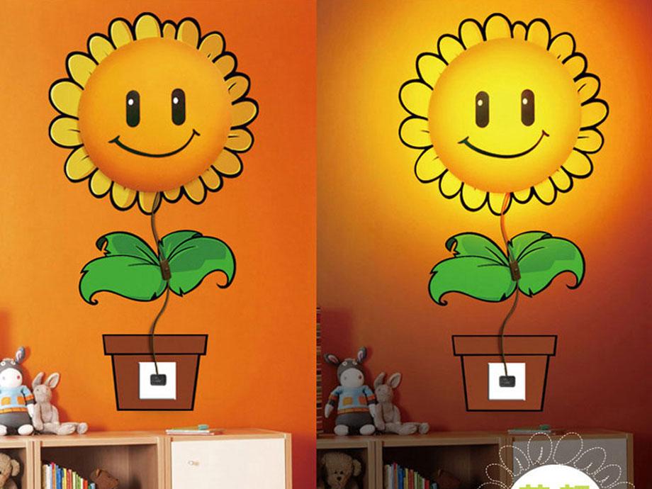 Luminária 3D Encanto Flor Girassol