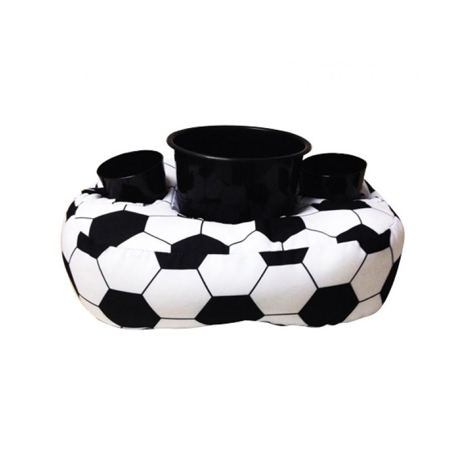 Almofada Porta Pipoca E Copos Futebol - Acompanha Balde E 2 Copos