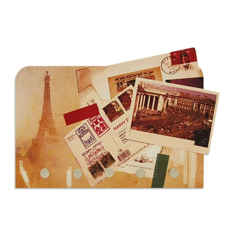 Porta Chaves e Cartas Postais Paris Vintage