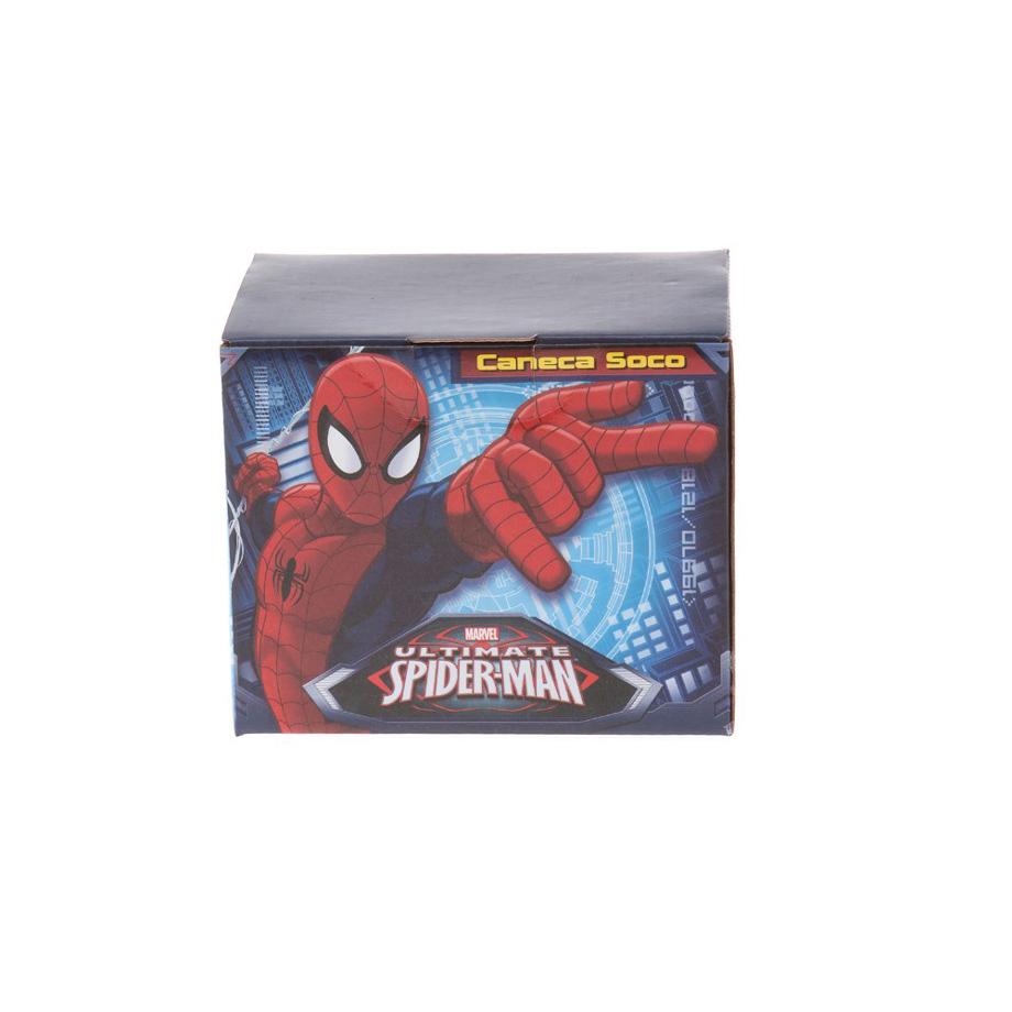 Caneca Soco Inglês Marvel Homem Aranha Spiderman Vingadores