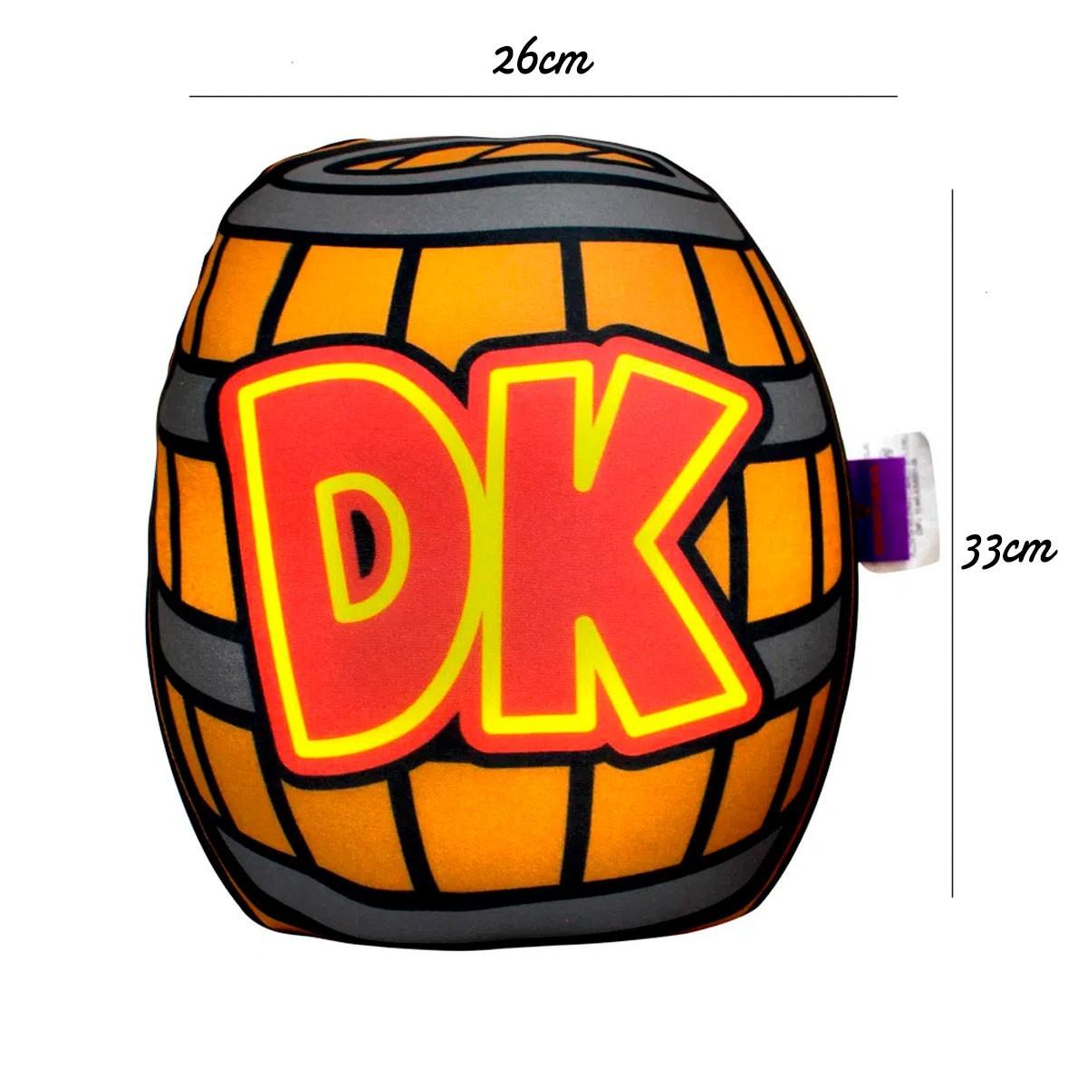Almofada Formato Barril Donkey Kong