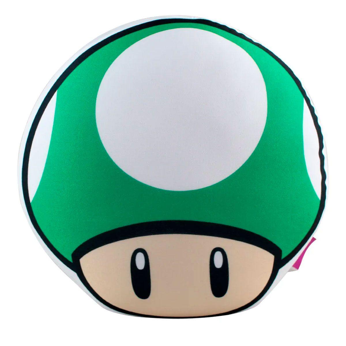 Almofada Formato Cogumelo Vida Super Mario