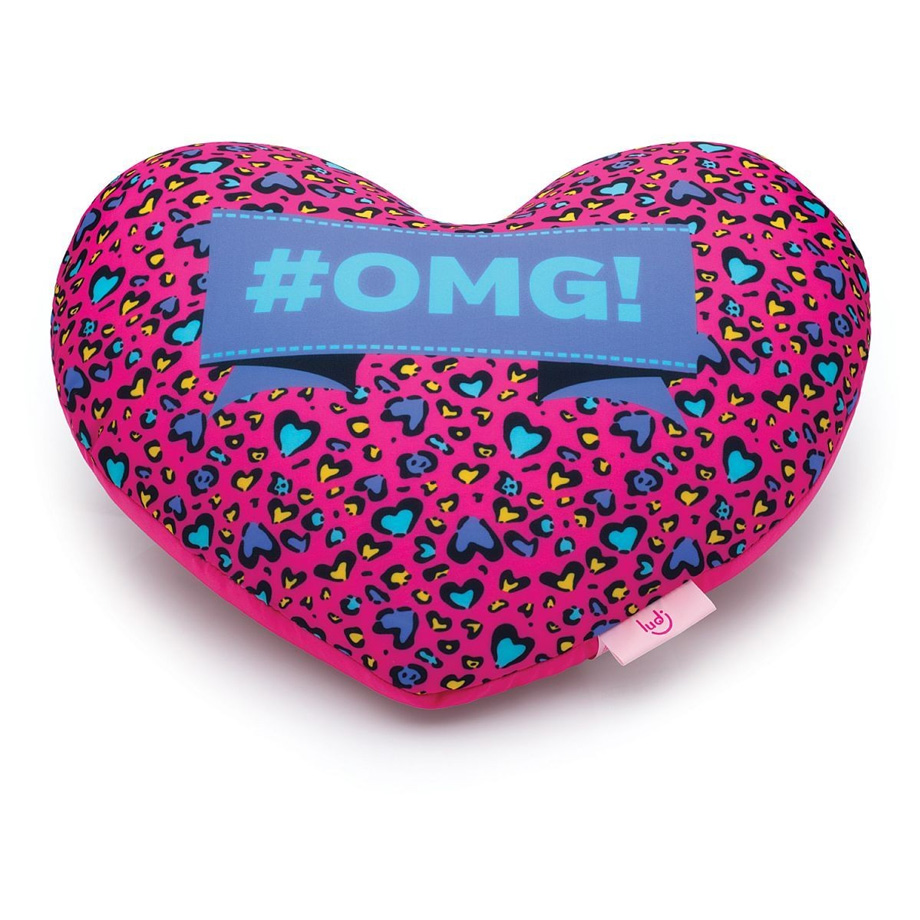 Almofada Mania Coração Oncinha Pink