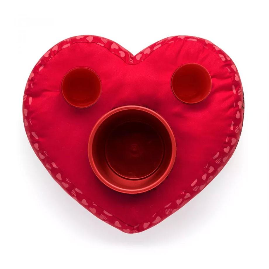 Almofada Pipoca Coração Eu e Você