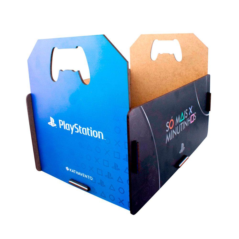 Kit Almofada Porta Controle e Copos e Porta Jogos Playstation PS4