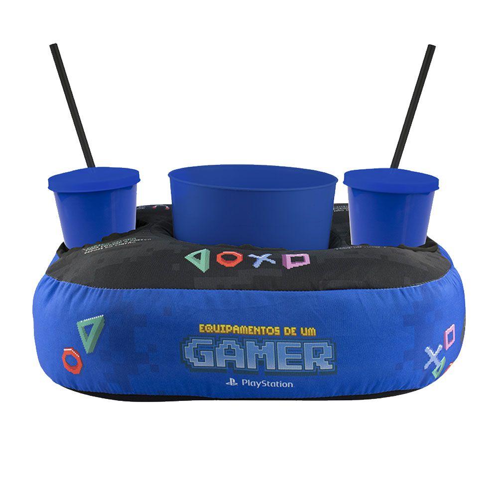 Almofada Porta Pipoca Playstation PS4 Pixel