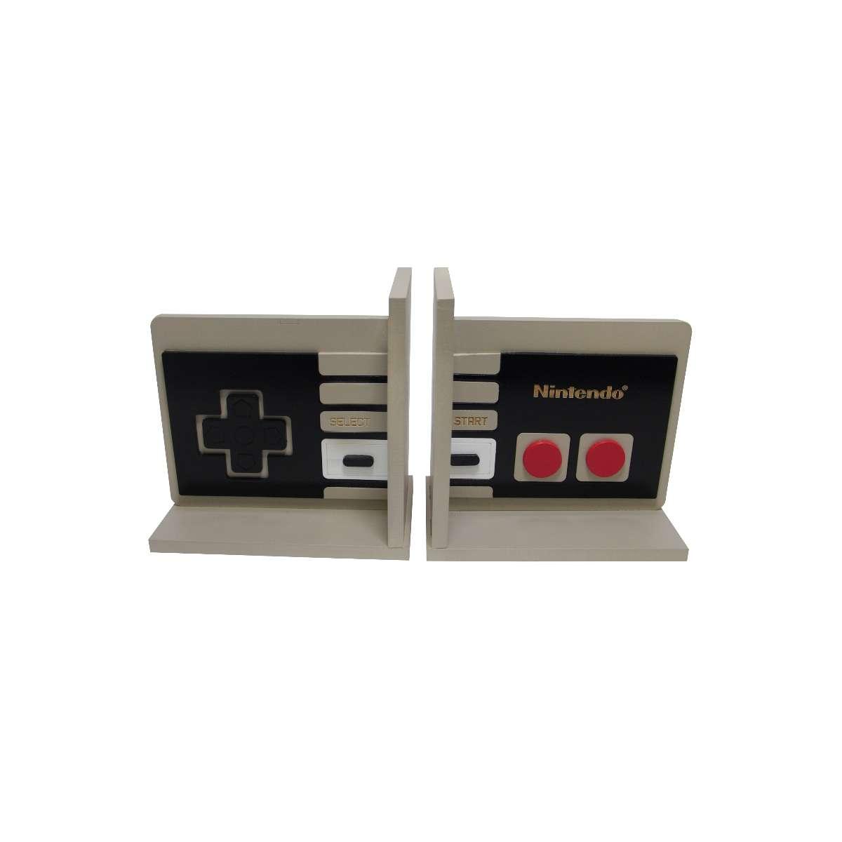 Aparador de Livro Controle Retrô Videogame Nintendo