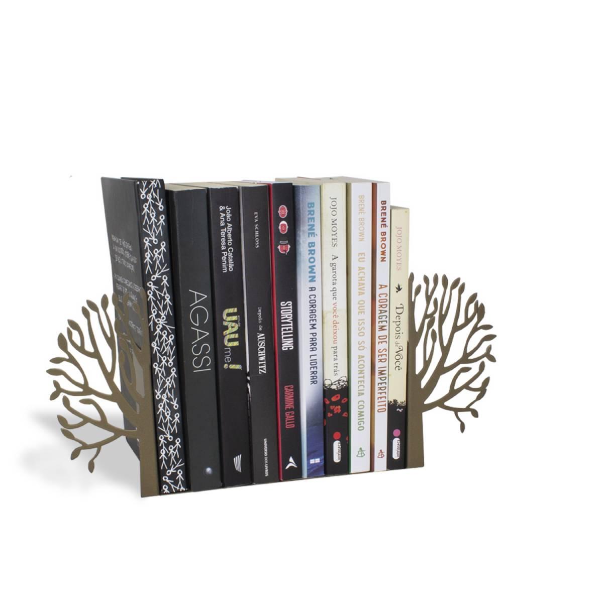 Aparador de Livros Árvore Dourado Perolizado